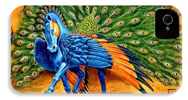 Peacock Pegasus IPhone 4 Case by Melissa A Benson