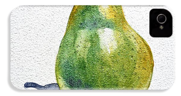 Pear IPhone 4 / 4s Case by Irina Sztukowski