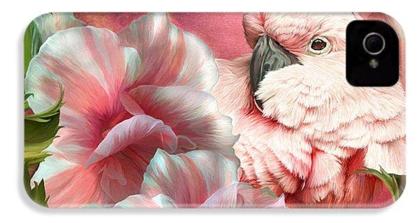 Peek A Boo Cockatoo IPhone 4 Case by Carol Cavalaris