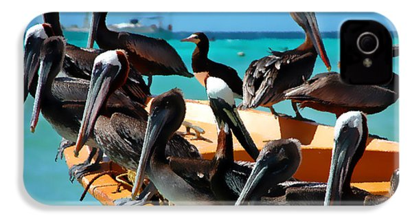 Pelicans On A Boat IPhone 4 Case by Bibi Romer