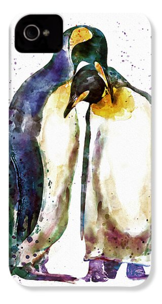 Penguin Couple IPhone 4 Case by Marian Voicu