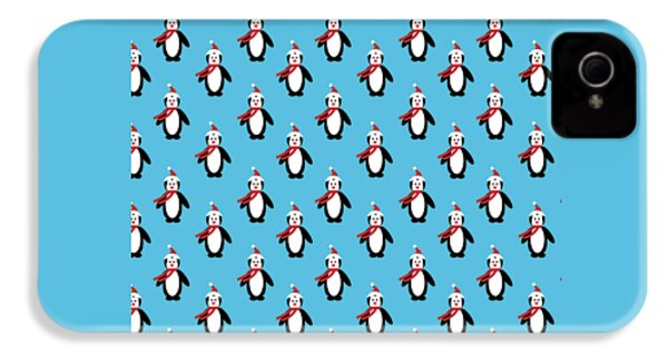 Penguin Pattern With Changeable Background IPhone 4 / 4s Case by Sebastien Coell