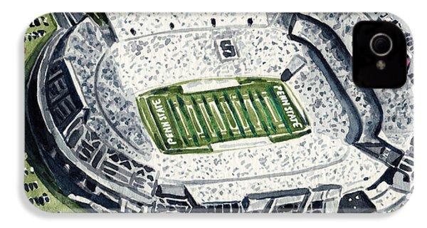 Penn State Beaver Stadium Whiteout Game University Psu Nittany Lions Joe Paterno IPhone 4 Case by Laura Row