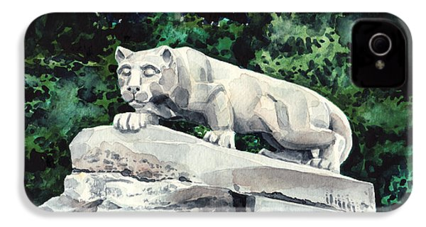 Penn State Nittany Lion Shrine University Happy Valley Joe Paterno IPhone 4 / 4s Case by Laura Row