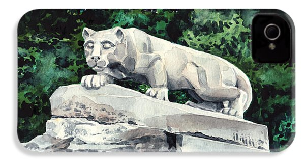 Penn State Nittany Lion Shrine University Happy Valley Joe Paterno IPhone 4 Case by Laura Row