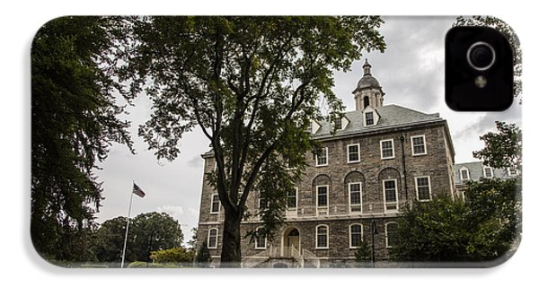 Penn State Old Main And Tree IPhone 4 Case by John McGraw