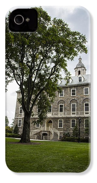 Penn State Old Main From Side  IPhone 4 Case by John McGraw