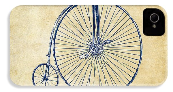 Penny-farthing 1867 High Wheeler Bicycle Vintage IPhone 4 / 4s Case by Nikki Marie Smith