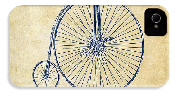 Penny-farthing 1867 High Wheeler Bicycle Vintage IPhone 4 Case by Nikki Marie Smith