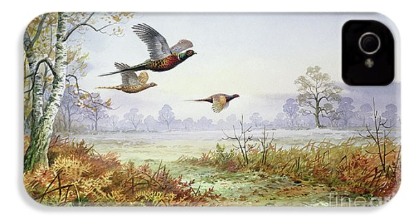 Pheasants In Flight  IPhone 4 / 4s Case by Carl Donner