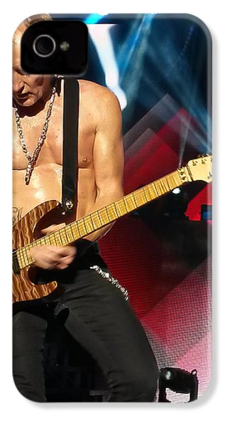 Phil Collen Of Def Leppard 2 IPhone 4 Case by David Patterson