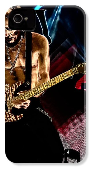 Phil Collen Of Def Leppard 3 IPhone 4 Case by David Patterson