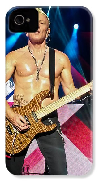 Phil Collen Of Def Leppard 5 IPhone 4 / 4s Case by David Patterson