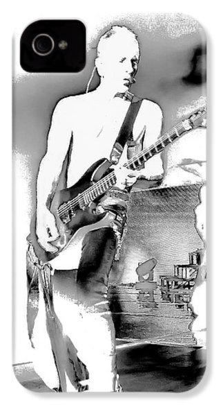 Phil Collen Of Def Leppard IPhone 4 Case by David Patterson