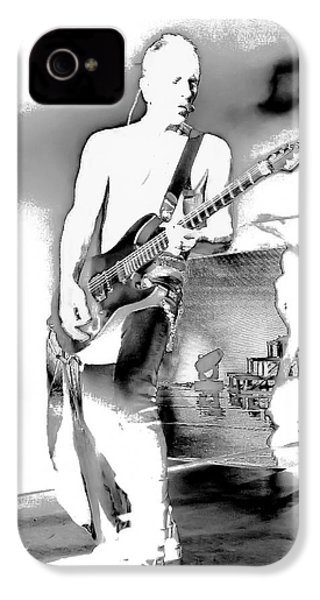 Phil Collen Of Def Leppard IPhone 4 / 4s Case by David Patterson