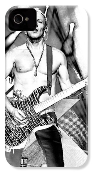 Phil Collen With Def Leppard IPhone 4 / 4s Case by David Patterson
