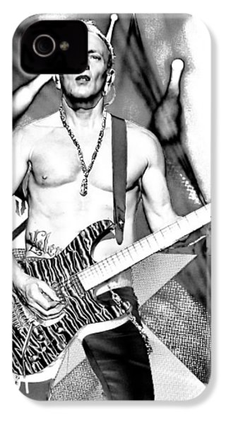 Phil Collen With Def Leppard IPhone 4 Case by David Patterson