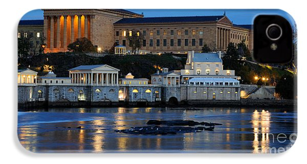 Philadelphia Art Museum And Fairmount Water Works IPhone 4 Case by Gary Whitton