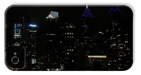 Philadelphia Night Lights IPhone 4 Case by Rona Black
