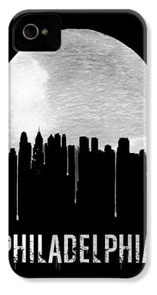 Philadelphia Skyline Black IPhone 4 / 4s Case by Naxart Studio