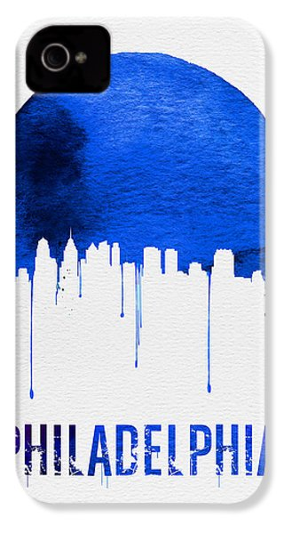 Philadelphia Skyline Blue IPhone 4 / 4s Case by Naxart Studio