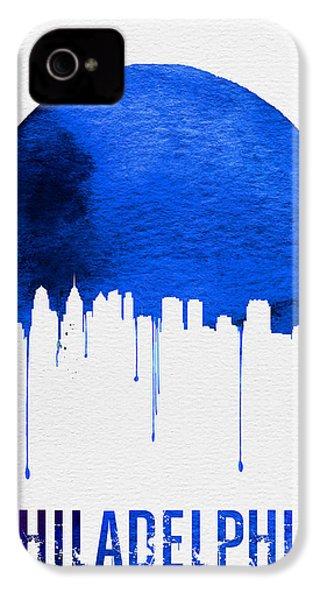 Philadelphia Skyline Blue IPhone 4 Case