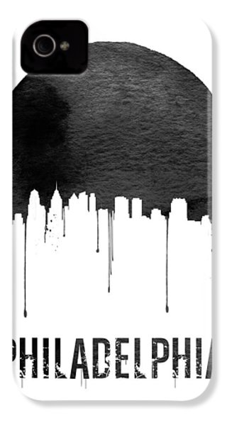 Philadelphia Skyline White IPhone 4 / 4s Case by Naxart Studio