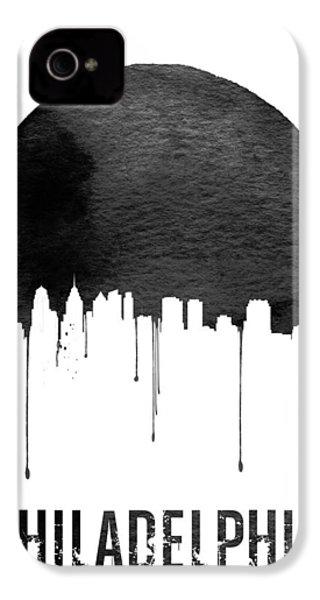 Philadelphia Skyline White IPhone 4 Case