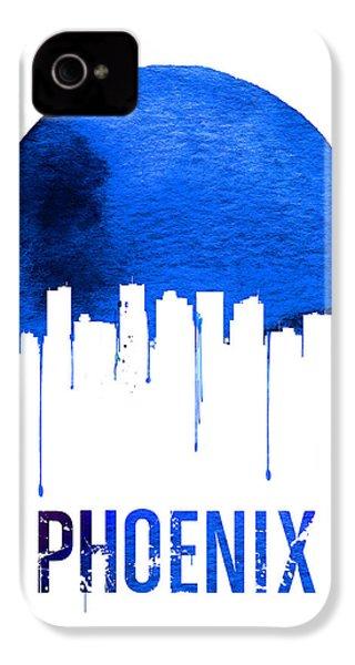 Phoenix Skyline Blue IPhone 4 / 4s Case by Naxart Studio