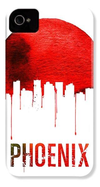 Phoenix Skyline Red IPhone 4 / 4s Case by Naxart Studio