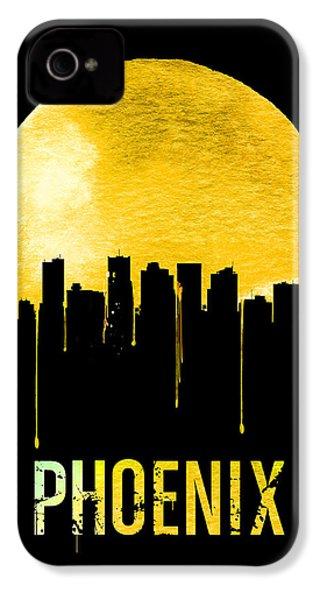 Phoenix Skyline Yellow IPhone 4 / 4s Case by Naxart Studio