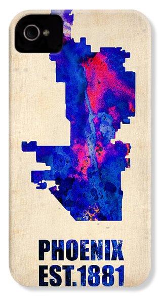 Phoenix Watercolor Map IPhone 4 / 4s Case by Naxart Studio