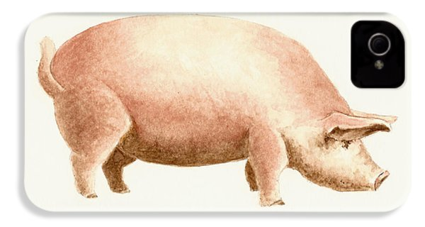 Pig IPhone 4 Case by Michael Vigliotti