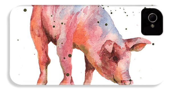 Pig Painting IPhone 4 Case by Alison Fennell