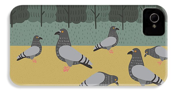 Pigeons Day Out IPhone 4 Case by Nicole Wilson