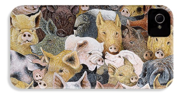 Pigs Galore IPhone 4 Case by Pat Scott