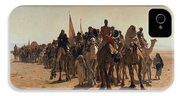 Pilgrims Going To Mecca IPhone 4 Case by Leon Auguste Adolphe Belly