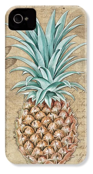 Pineapple, Ananas Comosus Vintage Botanicals Collection IPhone 4 Case