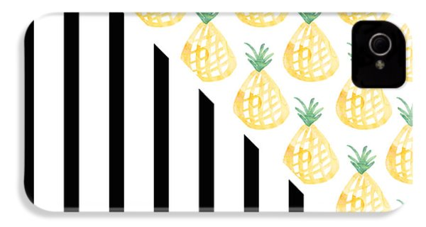 Pineapples And Stripes IPhone 4 Case