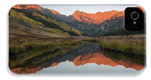IPhone 4 Case featuring the photograph Piney River Autumn Sunrise by Aaron Spong