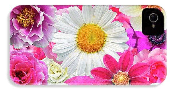 Pink Flowers  IPhone 4 Case by Gloria Sanchez