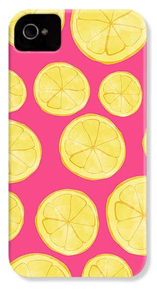 Pink Lemonade IPhone 4 / 4s Case by Allyson Johnson