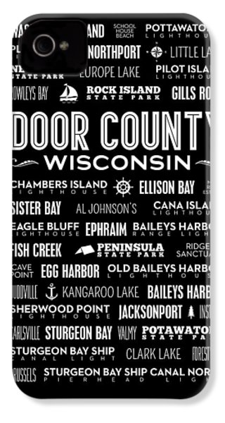 Places Of Door County On Black IPhone 4 / 4s Case by Christopher Arndt