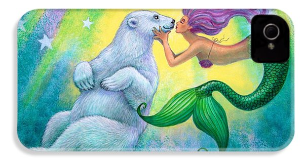 Polar Bear Kiss IPhone 4 Case