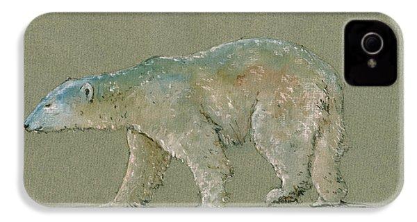 Polar Bear Original Watercolor Painting Art IPhone 4 Case