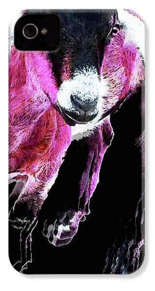 Pop Art Goat - Pink - Sharon Cummings IPhone 4 Case by Sharon Cummings
