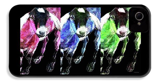 Pop Art Goats Trio - Sharon Cummings IPhone 4 Case by Sharon Cummings