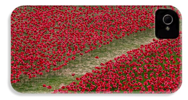Poppies Of Remembrance IPhone 4 Case by Martin Newman