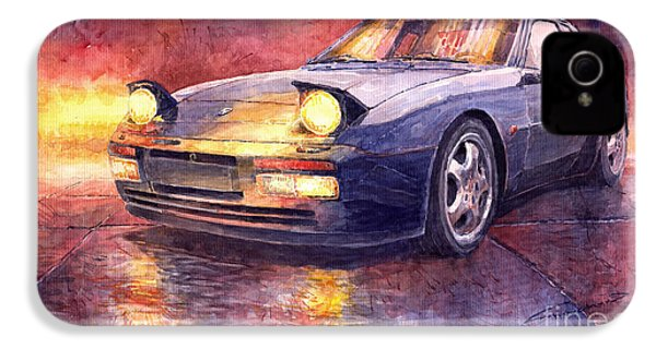 Porsche 944 Turbo IPhone 4 Case by Yuriy  Shevchuk