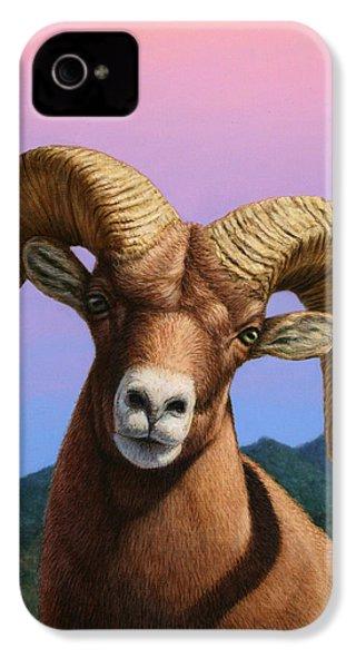 Portrait Of A Bighorn IPhone 4 Case